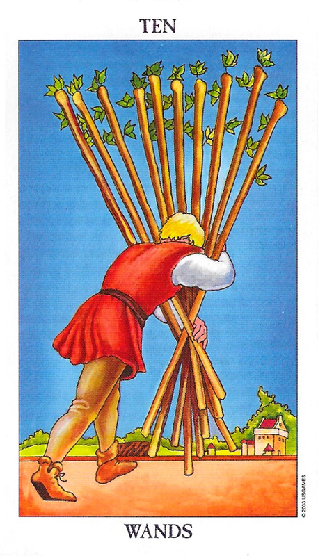 Kabbalah_Malkuth_Tarot_Radiant Waite_Ten of Wands