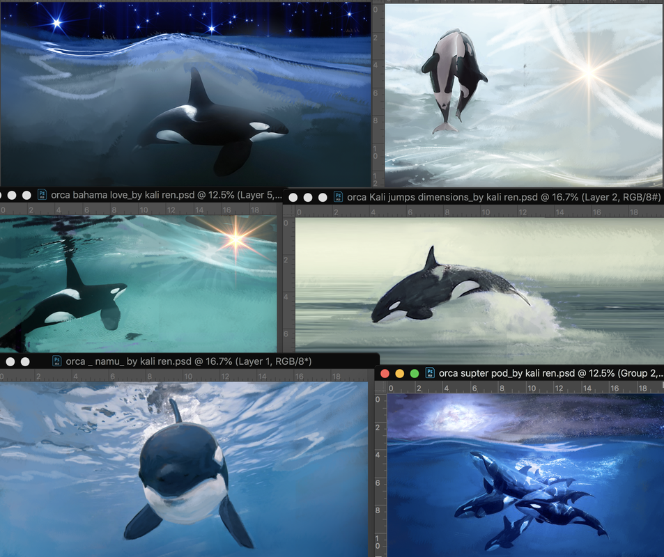 PictureKali Ren_#emptythetanks #freewilly orca magick art SCRATCH