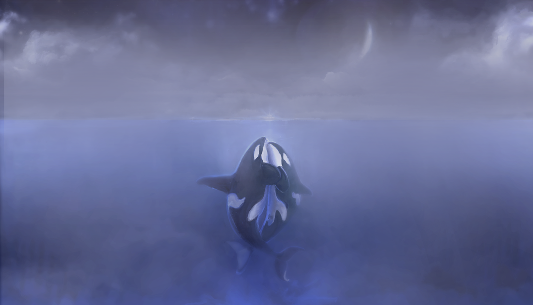 orca art by kali ren_day 6_THE LOVERS ART PIECE_#orcatarot_#orcamagicktarot_#orcamagictarot_#orcashaman_#orcatotem_#orcaspiritguide_#orcashamanism_#path17thelovers_#06thelovers_#orcatarotthelovers_#emptythetanks_#freewilly_#kalidragons_#hungerstrike_#kaliren_#kalirenart_#blackfish_#dragonqueen_#dragonking