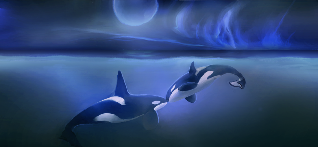 ORCA TAROT_orca art by kali ren_day 3_TWO OF CUPS_#orcatarot_#orcamagicktarot_#orcamagictarot_#orcashaman_#orcatotem_#orcaspiritguide_#orcashamanism_#path2twoofcups_#02twoofcups_#orcatarottwoofcups_#emptythetanks_#freewilly_#kalidragons_#hungerstrike_#kaliren_#kalirenart_#blackfish_#dragonqueen_#dragonking_#twoofcups